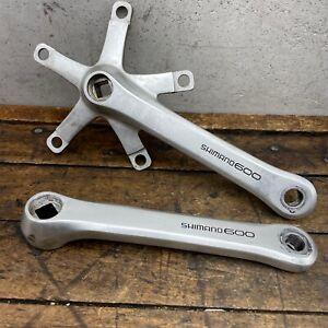 Shimano Crank Set 600 Vintage 170mm FC-6207 Square Old BMX Road 130