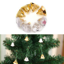 10 pcs Xmas Gold And Silver Beads Christmas Jingle Bells DIY Jewelry 2*2CM FadHG