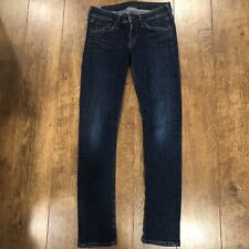 Citizens of Humanity Racer Skinny Low Rise Dark Wash Jeans Womens 25x30