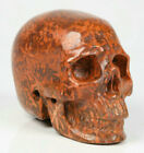 """2.0"""" Gold Star Stone Carved Crystal Skull, Realistic, Crystal Healing"""