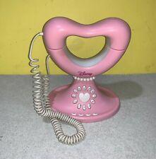 Disney Princess Pink Heart Landline Corded Telephone Mute Redial Pause Flash