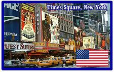 TIMES SQUARE, NUEVA YORK, USA - RECUERDO ORIGINAL IMÁN DE NEVERA