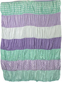 Circo Twin Size Ruched Bands of Color Reversible Comforter & Sham Aqua Lavender