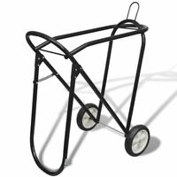 vidaXL Metal Foldable Saddle Rack w/ Wheels Tack Rack Yard Stable Storage