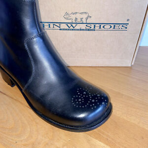 Wie Neu! Ungetragene John W. Shoes Stiefeletten Gr. 39 schwarz