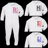 PERSONALISED BABY GROW SLEEVE VEST BABYGROW CLOTHING SHOWER GIFTS BOY GIRL
