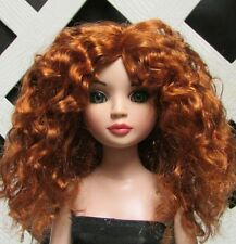 """Doll Wig, Monique Gold """"Ellowyne Rose"""" Size 6/7 in Double Red"""