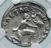 AUGUSTUS Ancient 19BC Silver Roman Coin STANDARDS RETURN from PARTHIA NGC i86381