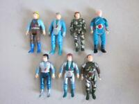 "VINTAGE DINO RIDERS LOT of 7 Action Figures 2 3/4"" 1987"