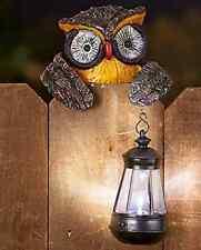 Solar Garden Owl Statue Bird Lantern Light Outdoor Decoration Patio Lawn Yard