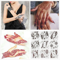 Lace transfer NEW Red henna Hand Arm Tattoo Henna Stickers Art Temporary Tattoo