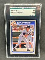 1985 Fleer #133 Don Mattingly SGC 98 10 Gem Mint Yankees Razor Sharp Dead Center