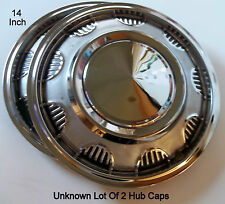 Sears Or JC Whitney Aftermarket Lot Of 2 Steel With Chrome Finish Hub Caps