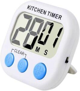 Magnetico Digitale Timer da Cucina con Allarme Forte e Ampio Display LCD