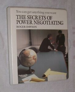 THE SECRETS OF POWER NEGOTIATING By Roger Dawson - Boxed Set - Audio Cassettes