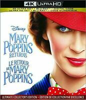 Mary Poppins Returns (4K Ultra HD + Blu Ray Movie) NEW + Digital Disney