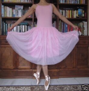 Adult lady or girl simple ballet dance pink tutu dress - New