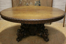 5506072 : Large Antique French Renaissance Hunt Carved Round Table