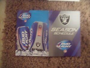 2014 Oakland Raiders (NFL) Bud Light Beer series cover football pocket schedule