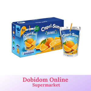 Orange Juice Drinks Capri-Sun No Artificial Colour or Flavours 8 x 200ml Box