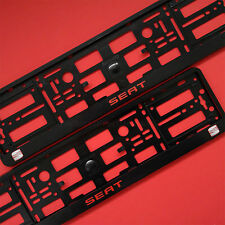 New 2 x Seat Number Plate Surrounds Holder Frame For Cars