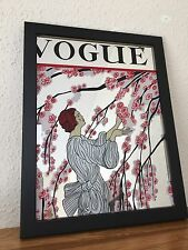 Vogue Blossom Tree Vintage 1970s Small Mirror