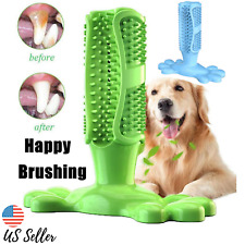 Fda √ Dog Toothbrush Chew Toy Dental oral Care Brush Stick Natural Rubber Pet