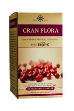 Solgar, Cran Flora with Probiotics Plus Ester C Vegetable Capsules, 60