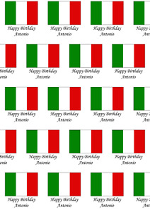 A2 Italy Flag Print Wrapping Paper, Personalised, Birthday, Any Occasion
