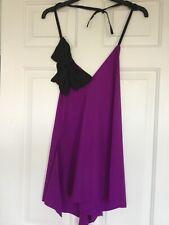 Minkie Halter Top NWOT One Size Purple
