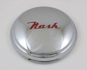 "NASH METROPOLITAN Chrome Hubcap ""Nash"" Script (Set of 4)"