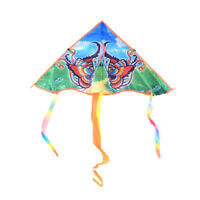 1PC 80cm Butterfly Printed Long Tail Kite Children Outdoor Garden Fun Toys P qn