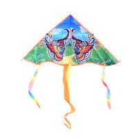 1PC 80cm Butterfly Printed Long Tail Kite Children Outdoor Garden Fun Toys D U_X