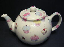 Heron Cross Pottery Cup Cakes Chintz English 6-8 Cup Tea Pot