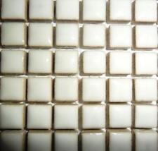81 Mini glazed ceramic Mosaic Tiles 10 mm-WHITE