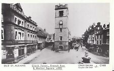 Hertfordshire Postcard - Old St Albans - Clock Tower, French Row 1921 - Ref U848