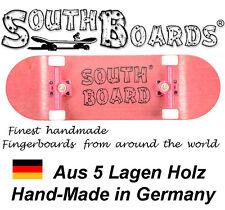 Komplett Holz Fingerskateboard PNK/PNK/WS SOUTHBOARDS® Handmade Wood Fingerboard