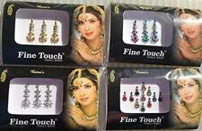 Good Quality 4 Pack Gold ,Silver, Multi Color Assorted Size Bollywood Head Bindi