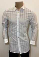 "PAUL SMITH - MAINLINE - White Pinstripe Lightweight 100% Cotton Shirt 16.5"" / 42"