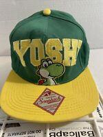 Super Mario Bros Yoshi Bioworld Merch 2012 Nintendo Original Snapback Hat