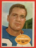 1960 Topps #77 Pat Summerall EX-EX+ New York Giants FREE SHIPPING