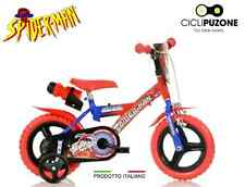 "BICI BIMBO SPIDERMAN 12"" BICICLETTA BAMBINO DINO BIKES MADE IN ITALY ORIGINALE"