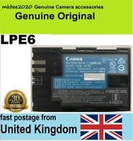 Genuine Original Canon LP-E6 Battery fr EOS 5D Mark III 2/3 6D 60D 7D 70D LC-E6E
