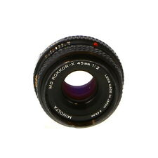 Minolta 45mm F/2 Rokkor-X MD Mount Manual Focus Lens {49} - UG