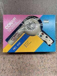 Vintage Conair Pro 1500 Hair Dryer Retro 1980's Rare