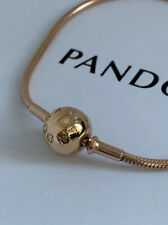 "NEW! Genuine PANDORA Essence Collection ""Pandora Rose"" Bracelet 586000-18  7.1"""