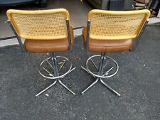 Vintage Mid Century Modern Douglas Furniture of California set of two bar stools