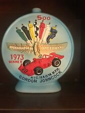 Vintage 1973 Indianapolis 500 Hoffman Distilling Decanter Gordon Johncock