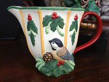 Lenox Winter Greetings Everyday Sculpted Creamer by Catherine McClung