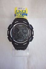 Q & Q Diver Digital Watch Black and White - 100M Water Resistant